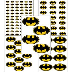 INSTANT DOWNLOAD Batman ( 5 sizes ) - for Balloon, Stickers, Lollipop, Favor bags, Cups - Batman birthday party - PRINTABLE by Inulja on Etsy https://www.etsy.com/listing/168513671/instant-download-batman-5-sizes-for