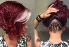 Short Hairstyles For 2017 - Gallery Undercut Bob Haircut, Undercut Hairstyles, Pixie Haircut, Short Hairstyles, Long Curly Hair, Curly Hair Styles, Badass Haircut, Inverted Bob Haircuts, Up Dos