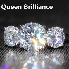14K Queen Brilliance 5 Carat ct F Color Lab Diamonds