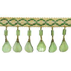 Decorative Curtain Fringe Beige Upholstery Ribbon Trim Se...…
