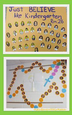 photo of: Catholic School Bulletin Boards, Rosary Bulletin Board