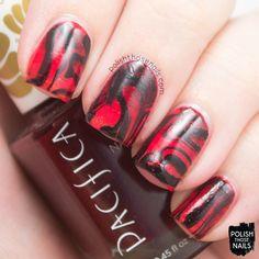 Polish Those Nails // The Digit-al Dozen - Gradient + Watermarble
