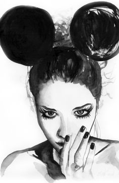 Fashion illustration by Elise Reid - Watercolour, photography and acrylic
