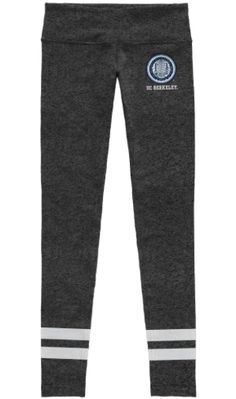 League Brand 100% polyester printed polyester spandex tight fitting leggin Import Item  Officially licensed University of California Berkeley Product. All UC B