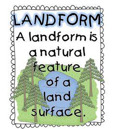 First Grade W.O.W.: Free Landforms unit