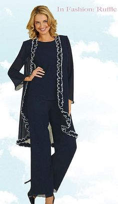 For your Momma?????Misty Lane by Ben Marc Womens 3pc Church Pant Suit 13455 at frenchnovelty.com