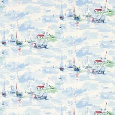 Sanderson - Traditional to contemporary, high quality designer fabrics and wallpapers | Products | British/UK Fabric and Wallpapers | Sail Away (DVIN214590) | Vintage 2 Wallpapers