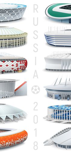Russia 2018 World Cup stadiums on Behance