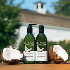 Quench parched skin with our new Avalon Organics® Moisturizing Coconut Bath & Shower Gel and Hand & Body Lotion. A harmonious medley of organic, unrefined Virgin Coconut Oil, Aloe, Shea Butter, and Vitamin E goes to work to smooth and soften the driest of skin. Available now, on our site. Bath Shower, Shower Gel, Avalon Organics, Vitamin E, Body Lotion, Shea Butter, Aloe, Coconut Oil