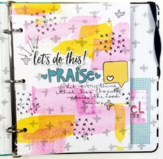 Janel is sharing a little flip through of what she's done so far in her Illustrated Faith Praise Book | mixed media art, prayer, and scrapbook journal