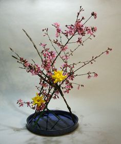 Google Image Result for http://keithstanley.com/wordpress/wp-content/uploads/2012/02/Ikebana-without-using-a-kenzan-cherry-winged-euonymus-and-narcissus-854x1024.jpg