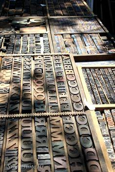 Antique Wood Letters | Antique Wood Letterpress type letters