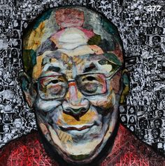 Painted portraits of the Dalai Lama by Sherry Tompalski were exhibited at Library and Archives Canada in Ottawa during World Refugee Week celebrations in 2010. SEE: http://globalvoicesproject.ca