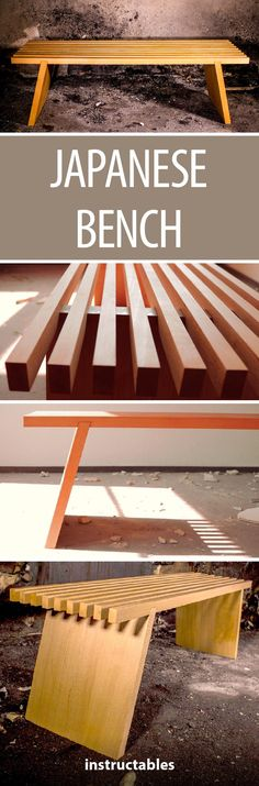 Japanese Bench #woodworking #furniture