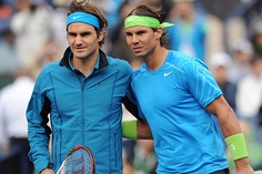 Keep your enemies close. Opponents Roger Federer and Rafael Nadal before their semi final match at the BNP Paribas Open at Indian Wells. Federer won 6-3, 6-4.    (Jayne Kamin-Oncea - US Presswire)