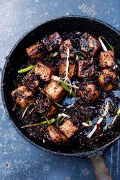Black Pepper Tofu. Half chilis & pepper for plenty kick; butter type - 1tbs).