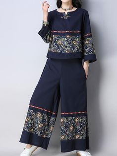 Arizona Co-Ords Sleeve type: Full Sleeves Material: Linen & Cotton Process: Print Two Pieces Wearable in: Autumn Soft Thin Non-stretchable Stylish Dresses, Casual Dresses, Hijab Fashion, Fashion Dresses, Types Of Sleeves, Full Sleeves, Dress Trousers, Pants, Two Piece Dress