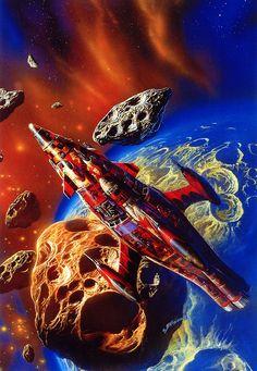 70s Sci-Fi Art: exonauts:   Quetzalcoatl in the Asteroids by Bob...
