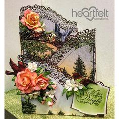 Heartfelt Creations - Peachy Roses Foldout Card Project