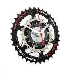Bike desk Clock Bicycle Gear Clock Bicycle table Clock