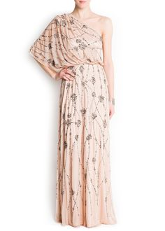 Mango Women's Embroidered Tulle Gown