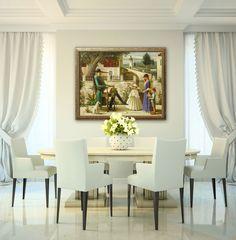Samsonov Dinning Room Neutral Color Scheme, Color Schemes, Dining Table, Room, Furniture, Home Decor, R Color Palette, Bedroom, Dining Room Table