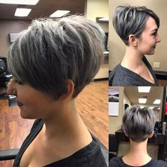Today we have the most stylish 86 Cute Short Pixie Haircuts. Pixie haircut, of course, offers a lot of options for the hair of the ladies'… Continue Reading → Short Grey Hair, Short Hair Cuts For Women, Short Hairstyles For Women, Pretty Hairstyles, Short Hair Styles, Cute Short Haircuts, Love Hair, Hairstyles Haircuts, Hair Trends