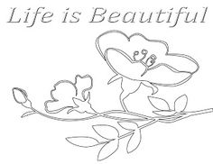 Free Printable Inspirational Coloring Page: Life is Beautiful (Available from CJO Photo)
