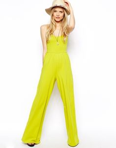 Bandeau Jumpsuit With Wide Leg