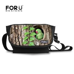 High Quality Multifunction Men s Canvas Travel Bag 3D Casual Cross body  Shoulder Bag Students Boys Messenger Bags Bird Face-in Crossbody Bags from  Luggage ... e41a6d17050af