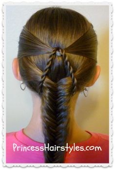 Suspended Fishtail Braided Hairstyle - Princess Hairstyles | Braids and Hair Style tutorials