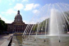 Fountain at the Alberta Legislature in Edmonton, Alberta, Canada