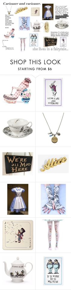 """""""Alice in Wonderland"""" by maryrbarker on Polyvore featuring Irregular Choice, Avenida Home and Mrs Moore"""