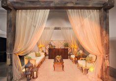 draping and vintage style furniture #wedding #rusticelegance #eventloungefurniture