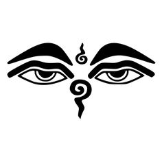Wisdom Eyes Of Buddha Die-Cut Decal Car Window Wall Bumper Phone Laptop