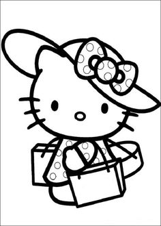 hello kitty coloring pages online - Printable Drawings For Kids