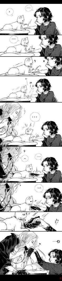 What's thaaaaat cute Xiao ma x Sahel Yi Chui Wu Yue Tiao Man Ji? Anime Couples Manga, Cute Anime Couples, Cute Comics, Funny Comics, Manga Art, Manga Anime, Comics Story, Romantic Manga, Manga Pages