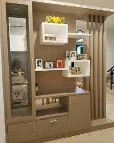 modern room divider ideas home partition wall designs for living room bedroom 2019 Room Partition Wall, Living Room Partition Design, Room Partition Designs, Living Room Divider, Foyer Design, Dining Room Design, Living Room Ideas Studio, Washbasin Design, Modern Tv Wall Units