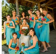 color of the bridesmaids dresses