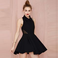 sleeveless skater backless dress with geradine patchwork