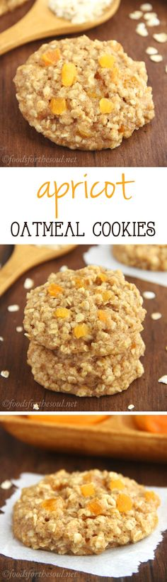 Clean-Eating Apricot Oatmeal Cookies -- these skinny cookies don't taste healthy at all! You'll never need another oatmeal cookie recipe again!