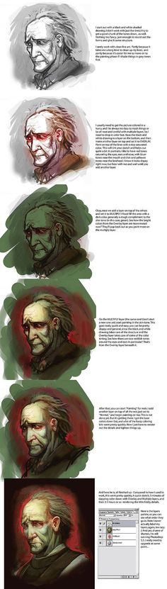 Mini Painting Tutorial by *juliedillon on deviantART ✤ || CHARACTER DESIGN REFERENCES | キャラクターデザイン | çizgi film • Find more at https://www.facebook.com/CharacterDesignReferences & http://www.pinterest.com/characterdesigh if you're looking for: #color #theory #contrast #animation #how #to #draw #paint #drawing #tutorial #lesson #balance #sketch #colors #digital #painting #process #line #art #tips || ✤