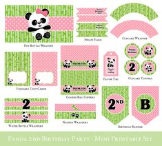 Hey, I found this really awesome Etsy listing at https://www.etsy.com/listing/187343491/panda-2nd-birthday-printable-mini-set