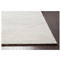 Geometric/Solid Runner - Ivory - (2'6X8' Runner) - Rizzy Home, Durable