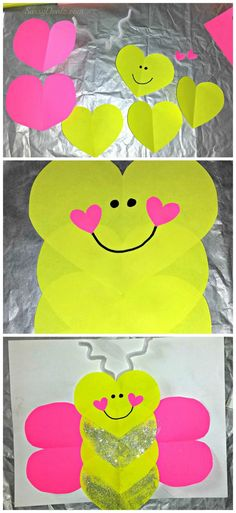 Diy love bug butterfly craft for kids! shapes crafts for kid Valentine's Day Crafts For Kids, Daycare Crafts, Classroom Crafts, Craft Activities For Kids, Toddler Crafts, Diy For Kids, Valentines For Kids, Valentine Day Crafts, Preschool Crafts