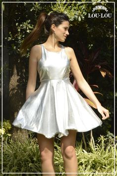 Vestido Gina metalizado en color plata