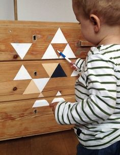 10 DIY Ideas to Freshen Up Kids' Dressers- all so pretty, doesn't have to be 'kids''