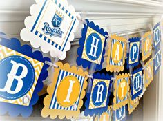 Kansas City Royals Inspired Happy Birthday by EmeraldCityPaperie