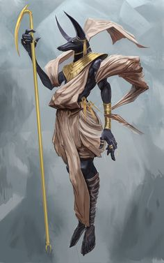 ArtStation - Anubis, Tuncer Eren - https://www.artstation.com/artwork/YZ0lY