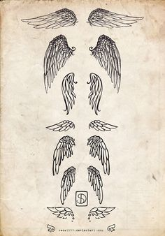 angel wings sketch | via Tumblr